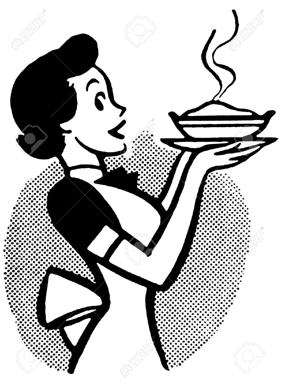 Old Woman Cook Cartoon Clipart