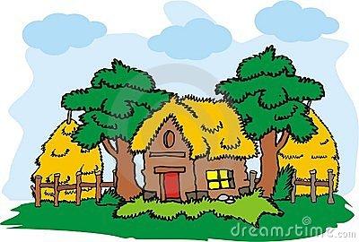 Village home clipart.