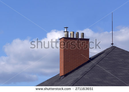 House Chimney Stock Photos, Royalty.