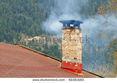 House Chimney Smoke Stock Photos, Royalty.