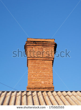 Brick Chimney Stock Images, Royalty.