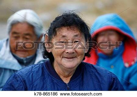 Stock Images of Portrait of an old woman in the small village of.
