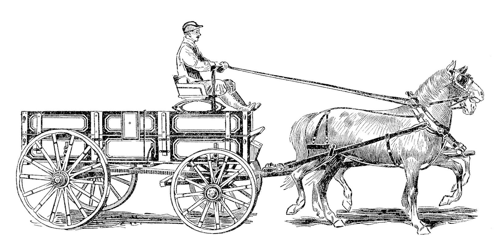 Old wagon clipart - Clipground