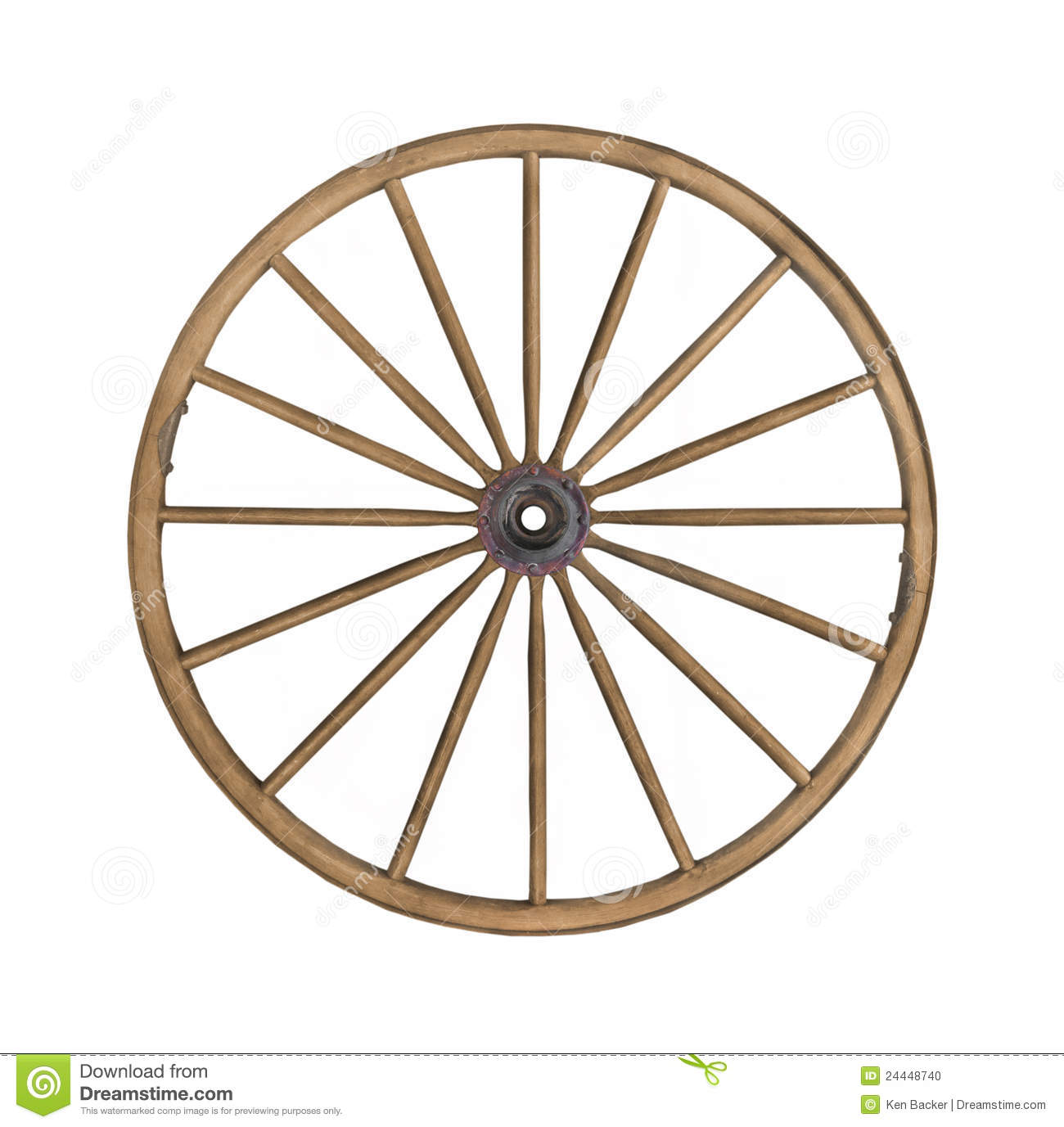 Old Wagon Wheel Clipart.