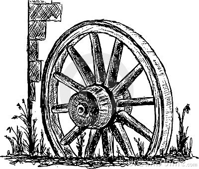 Clipart wagon wheel.
