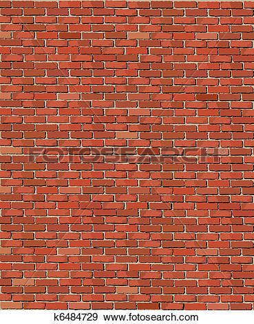Clip Art of Old brick wall k6484729.