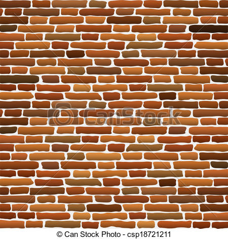 Vector Clip Art of Old brick wall. Vector illustration csp18721211.