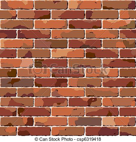 Vector of Old brick wall. Seamless texture..