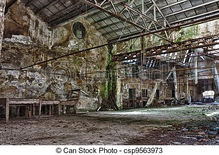 Stock Photos of abandoned factory.