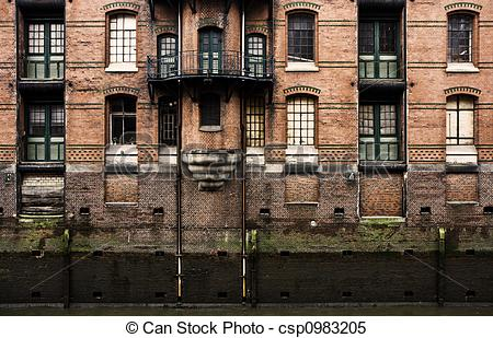 Stock Images of Warehouse facade.