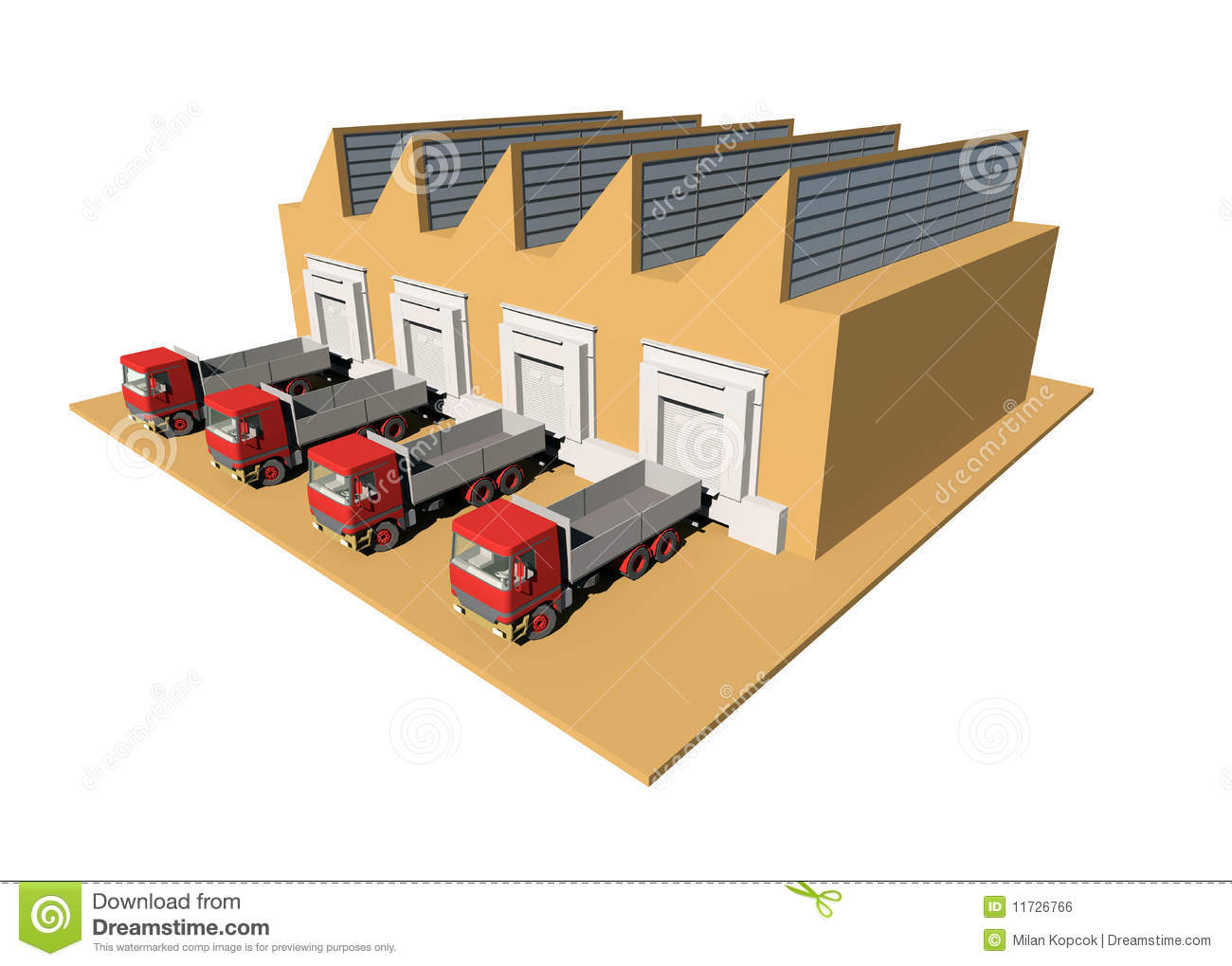 Warehouse Stock Illustrations.