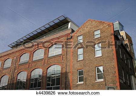 Stock Images of Old Warehouse Converted to Modern Apartments.