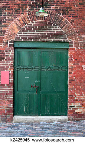 Stock Image of Old Warehouse Door k2425945.