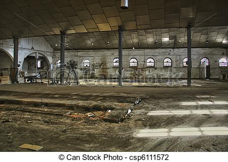 Stock Photo of Old abandoned factory.