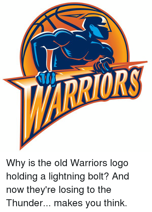 Why Is the Old Warriors Logo Holding a Lightning Bolt? And.