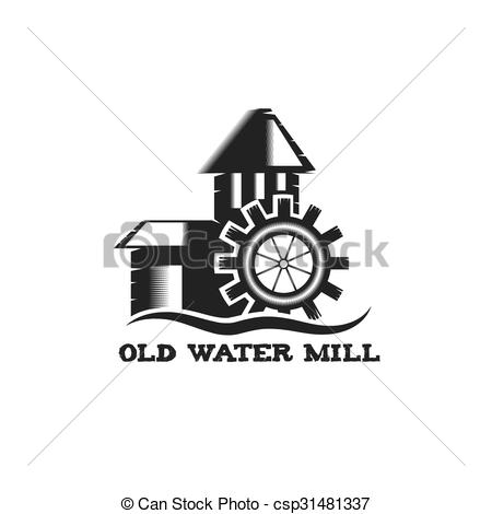 Vectors of old water mill vintage illustration csp31481337.