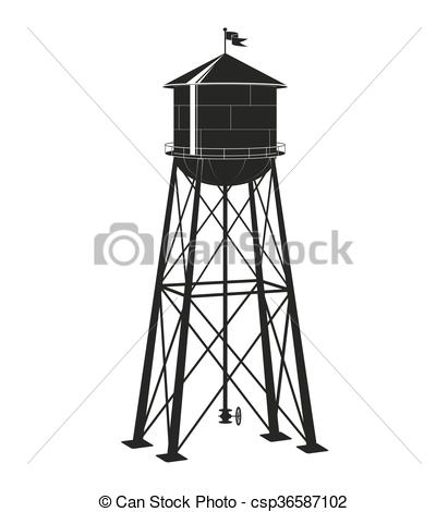 Water tower Clipart Vector Graphics. 3,685 Water tower EPS clip.