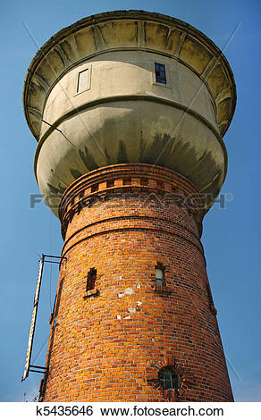 Stock Images of Old water tower with cistern k5435646.