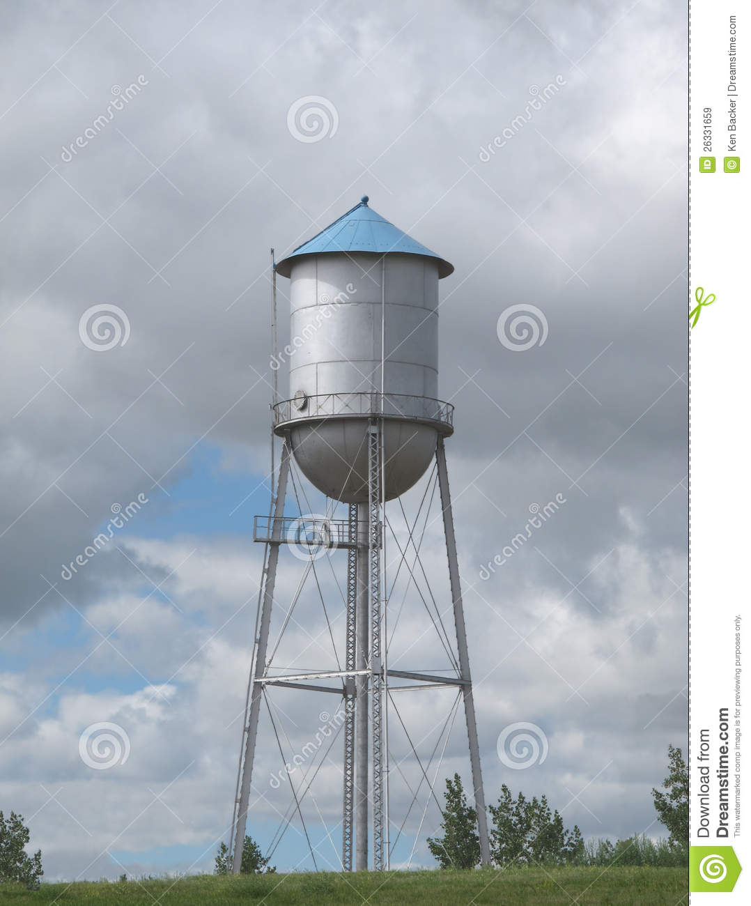 Animated Water Tower Clipart.