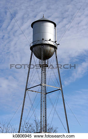 Stock Image of Old Metal Water Tower k0806945.