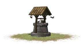 Old Stone Water Well Stock Illustrations.