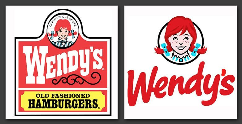Wendy\'s Logos, Old and New.