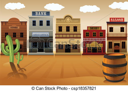 Old West Signs Clipart.