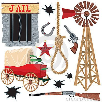 Old Western Clipart.