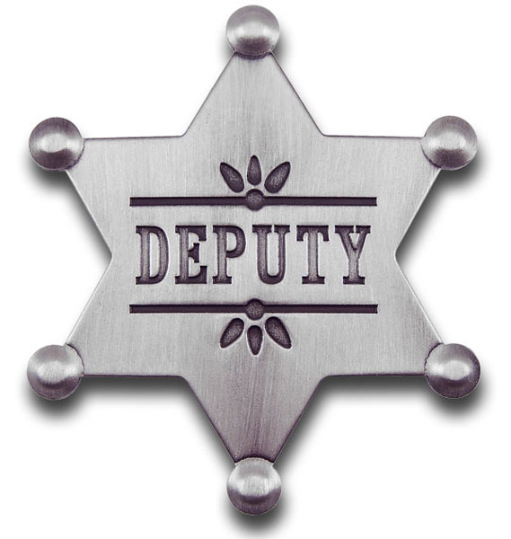Deputy Sheriff Badge Template Clipart.