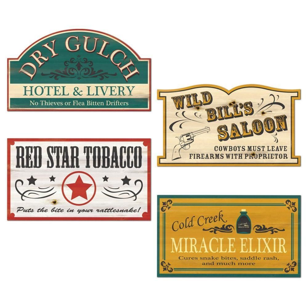 Old Style Western Sign Cutouts (Case of 48) in 2019.