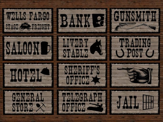 3555 Western free clipart.