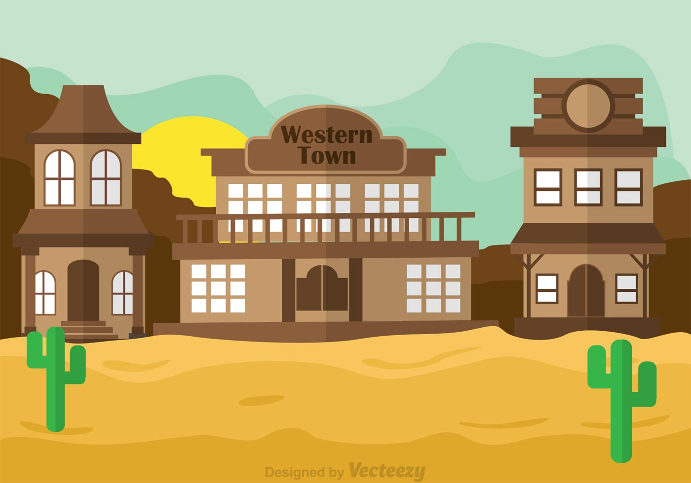 Wild West Town Clipart.
