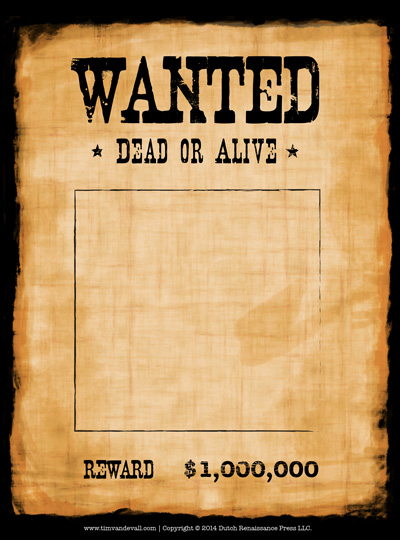 wanted poster template.