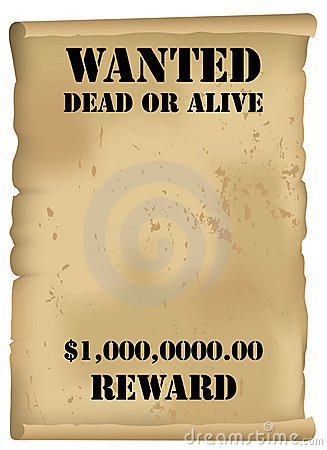 Wild West Wanted Poster Vector Stock Image.