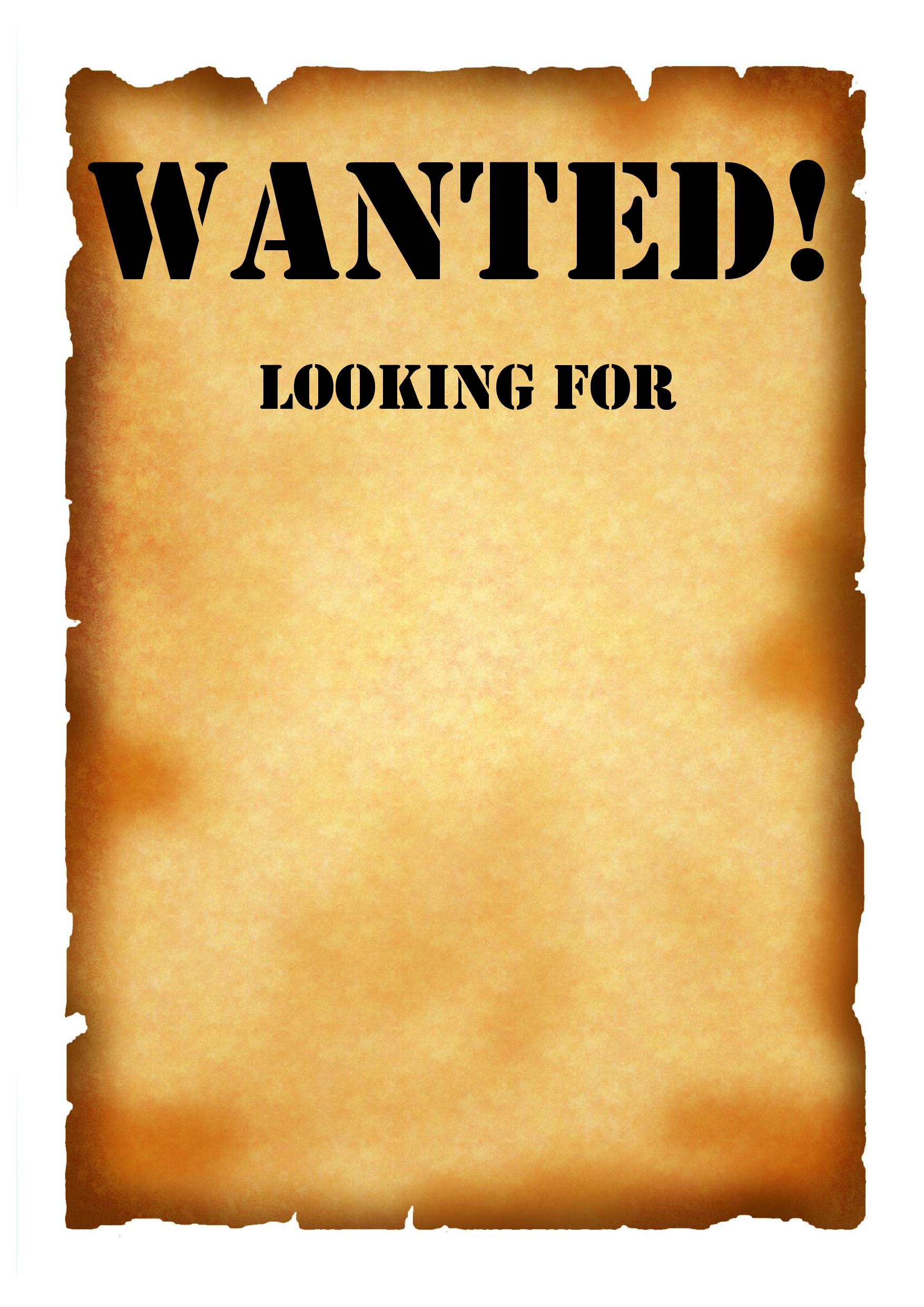 blank western wanted signs template.
