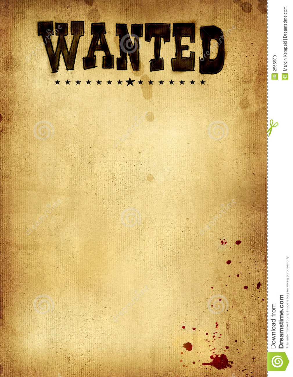 Free Clip Art Wanted Poster Template.