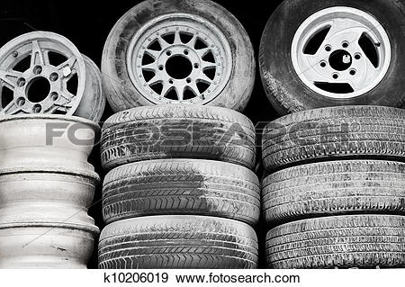 Stock Photograph of Old wheels k10206019.