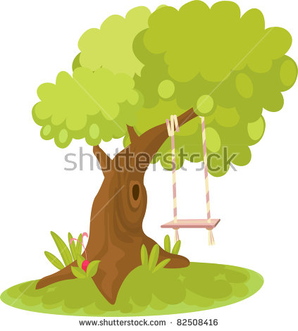 Old Willow On Spring Meadow Stock Vector 92235010.