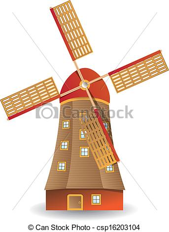 Vector Clipart of Old windmill.