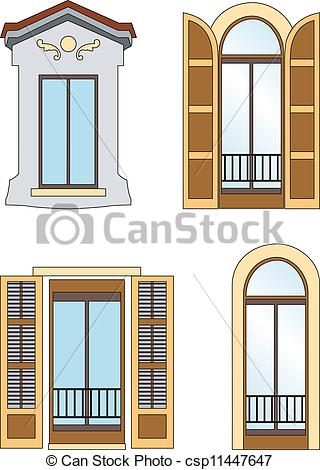 EPS Vector of Old windows.