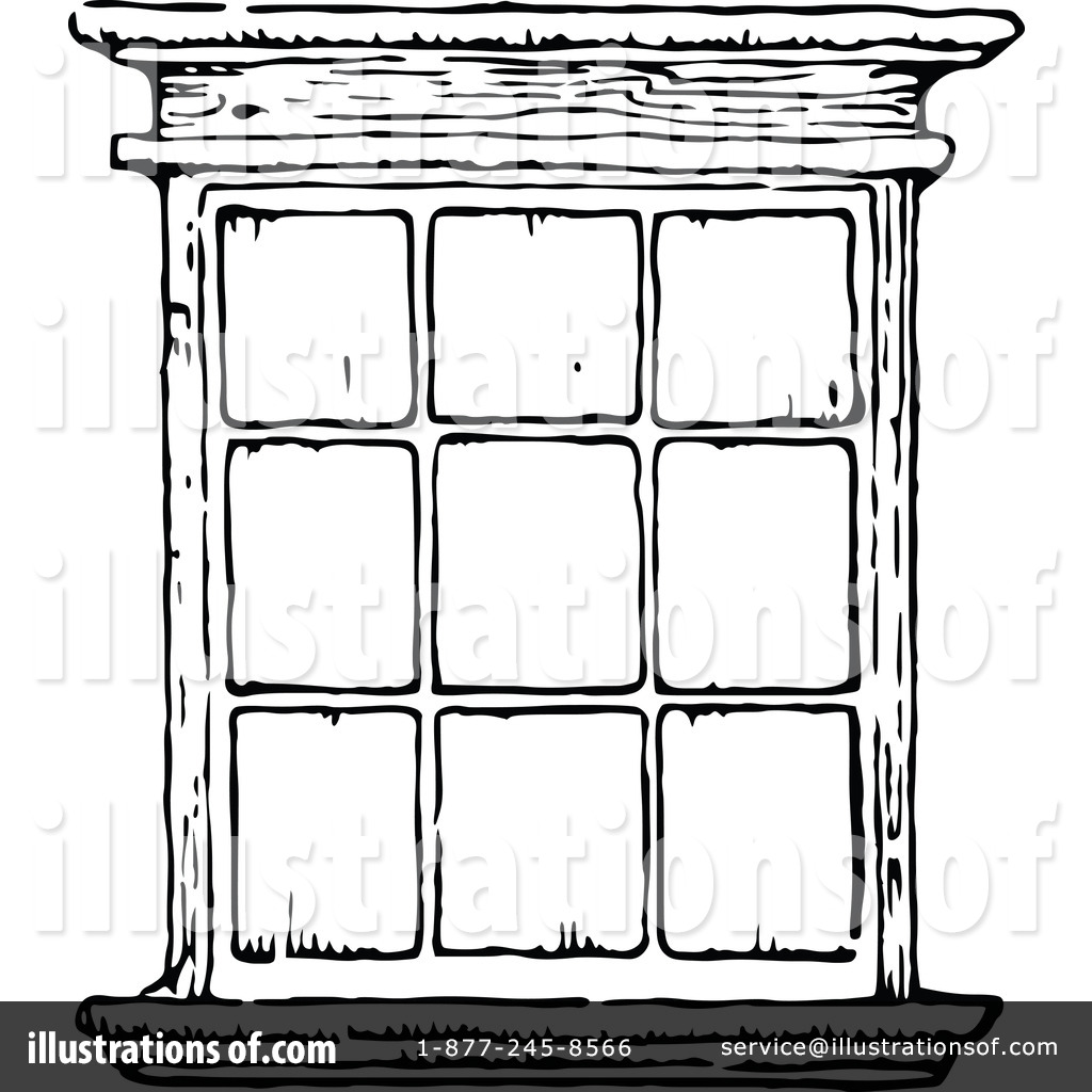 Old Window Clipart.