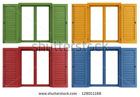 Window Shutters Stock Images, Royalty.