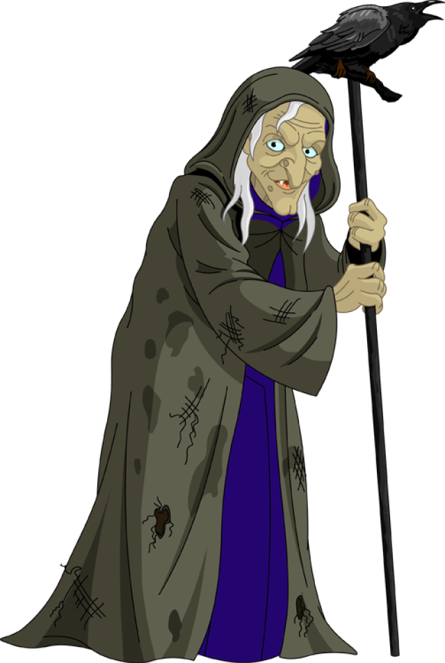Old Witch Clipart.