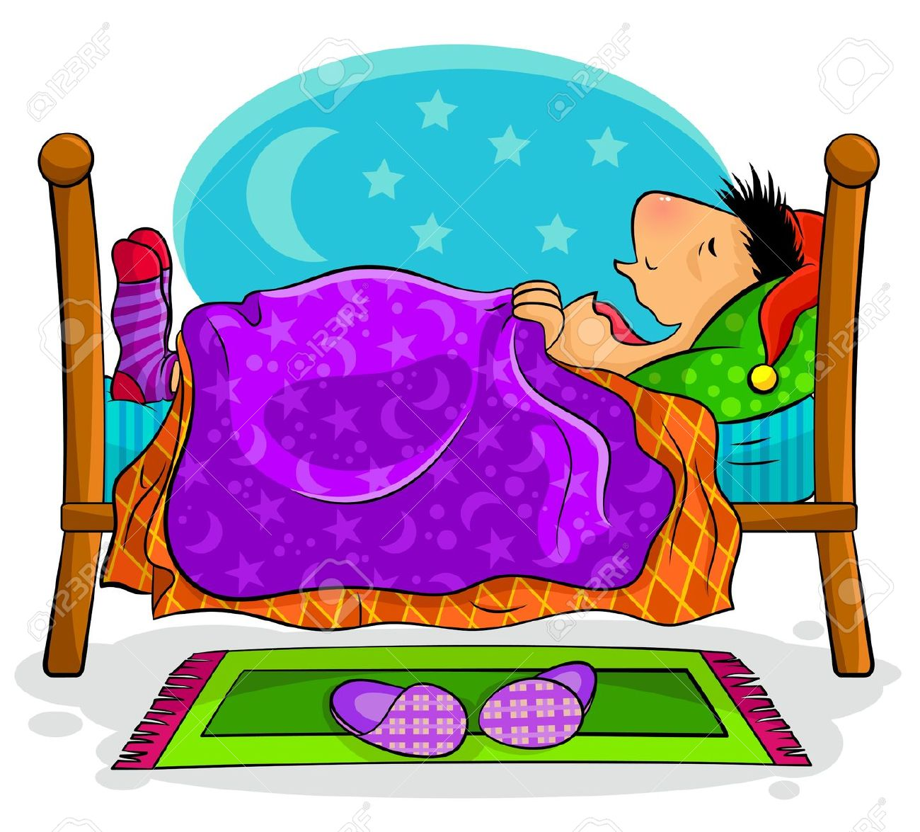 Old Woman And Man Asleep In Bed Clipart - Clipground-5065