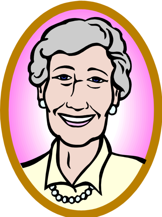 Old Woman Clipart.