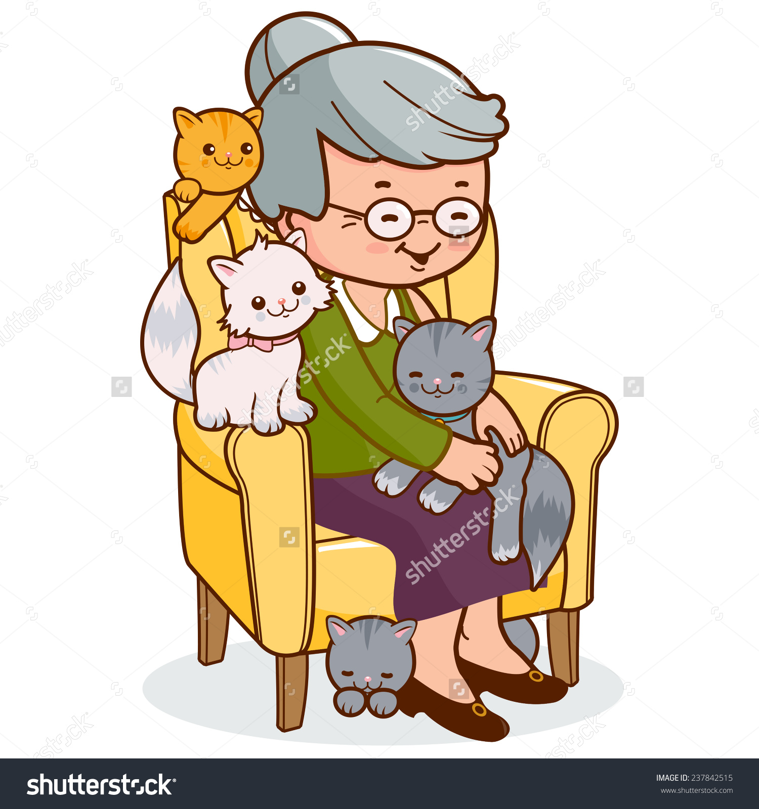 Clipart Old Woman Sitting.