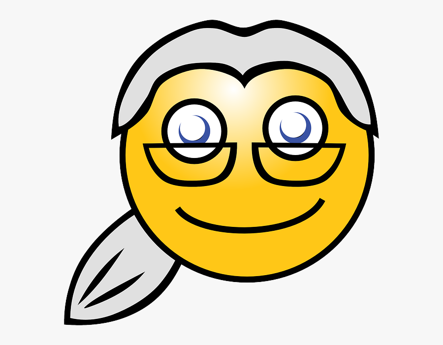 Face Smile Old Woman Clipart.
