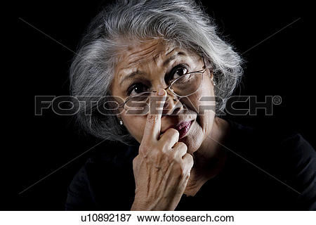 Picture of Old woman wearing glasses u10892187.