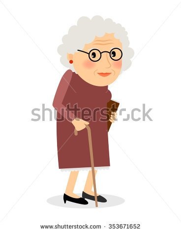 Clipart Computer Old Woman Glasses Hat.
