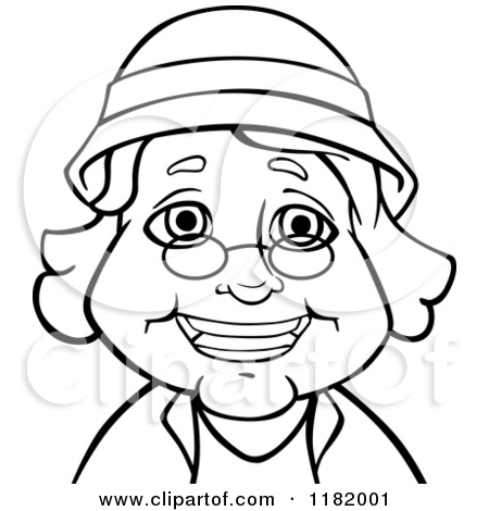 Old Woman Wearing Glasses Clipart.